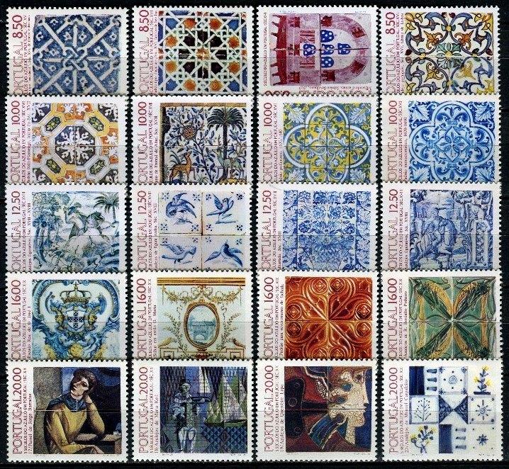 Selos 1985 1989 stamps portugal selos portugueses - Azulejos portugueses comprar ...