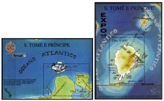 Selos - Expo 98 - Pack 2 Blocos de S. Tomé e Principe - Click Image to Close